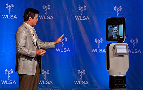 """New Models of Healthcare Delivery Using Remote Presence Telemedicine"" with Yulun Wang, PhD, Chairman and CEO, In Touch Health, with RP-Vita ™ WLSA Convergence Summit 2013"